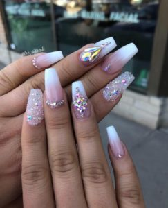 coffin french style nails