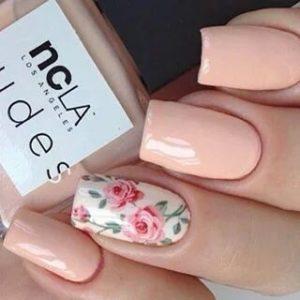 coral floral design