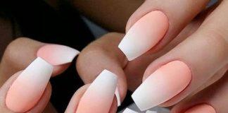 coral ombre white