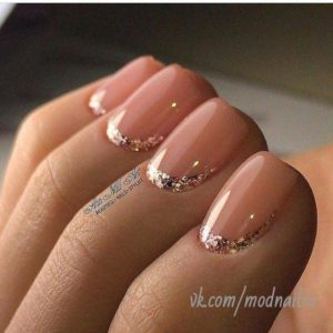 coral gold glitter