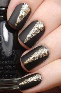 matte black glitter