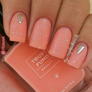 coral with embellishment