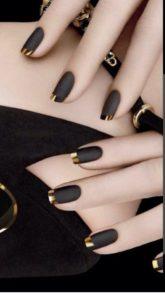 matte black gold tips