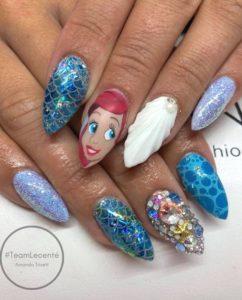 under the sea mermaid nails