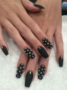 black coffin stones