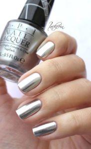 simple silver chrome