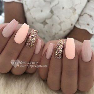 peach tones gold