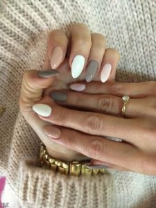 nude grey white solid