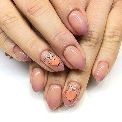 simple with peach design naisl