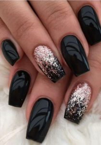 black long with glitter