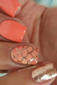 coral mermaid nails
