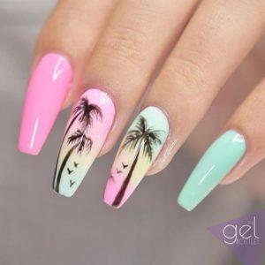 pastel palm tree