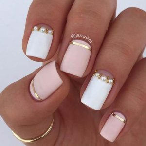 pink white pearls