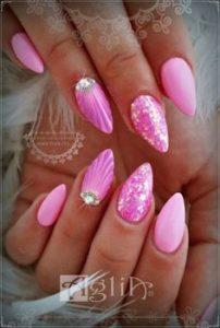 pretty pink stiletto nails
