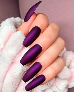 royal purple coffin acrylic nails