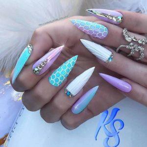 extreme mermaid nails