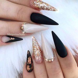 gold black glitter