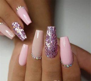 super nice diamond nails