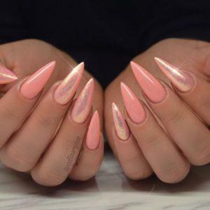 stiletto coral shimmer