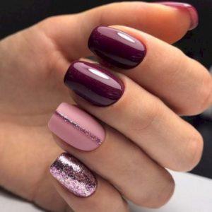 burgundy pink glitter