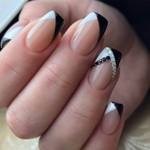 black and white tips
