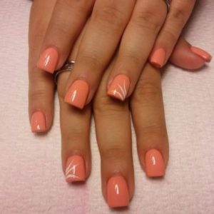 short coral white touch
