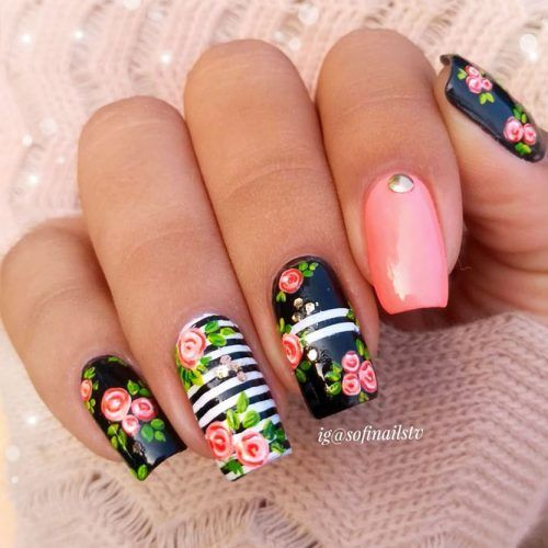 40 Beautiful Flower Nail Designs For Spring