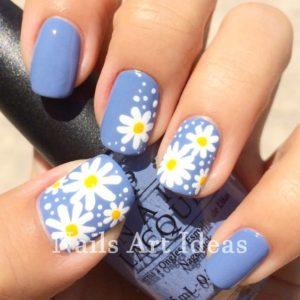 white flowers blue
