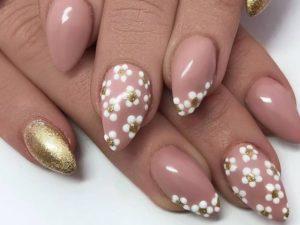 glitter white flowers