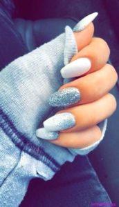 glitter winter nails