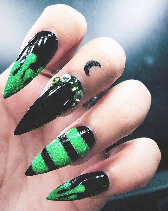Gothic Nails | 40 Stunning Gothic Nail Art Designs