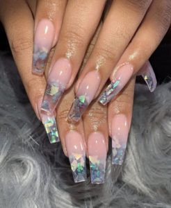 long broken mirror coffin nails