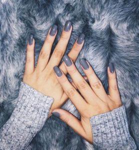 long grey winter nails