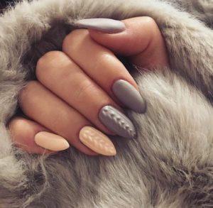 matte sweater nails