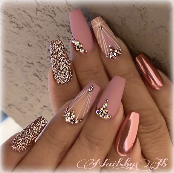 Rose Gold Nail Designs