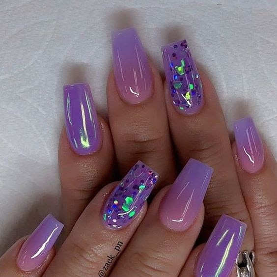 13 Trendy Neon Nail Designs That You Must Wear on Summer ...  Purple And Pink Nails