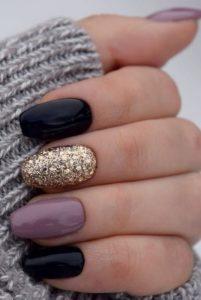 3 color winter nails