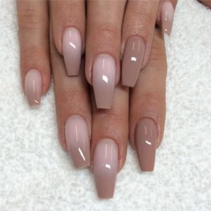 brownish nude ombre