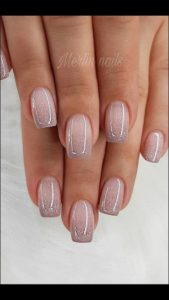 Nude and sparkle ombre