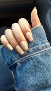 matte beige nail polish