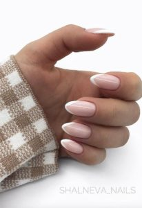 French manicure with a point