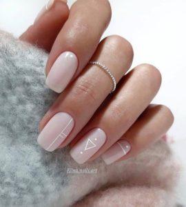 Geometrical nail art design