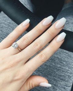 Short-almond-coffin-acrylic-nails