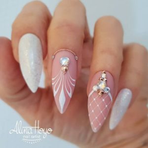 almond wedding nails
