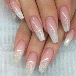 french ombre acrylic nails
