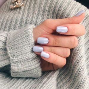 pastel Natural Looking Acrylic Nails