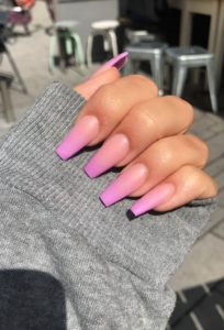 pink ombre acrylic nails