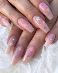 star nails coffin