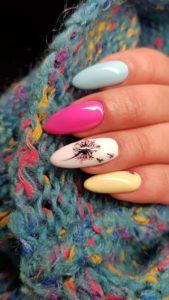 spring colorful nail art