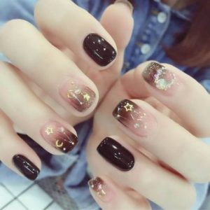stars and mood on nails